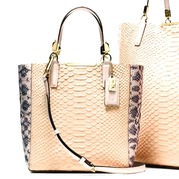 Coach Madison Python Embossed Tote